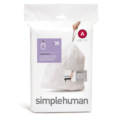 simplehuman® Code A 30-Pack 1.2-Gallon Custom Fit Liners