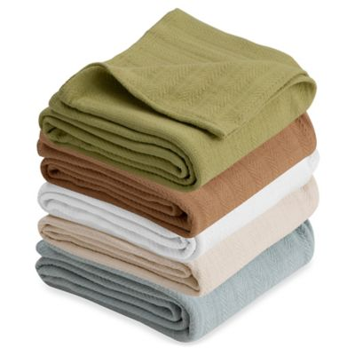 Vellux Cotton King Blanket in Tan