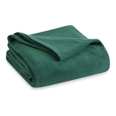 Vellux Fleece Twin Blanket in Hunter Green