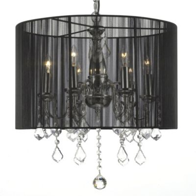 Black Crystal Chandelier Lighting