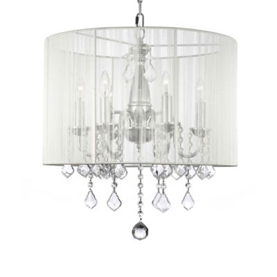 Gallery Crystal 6-Light Chandelier with Shade in White
