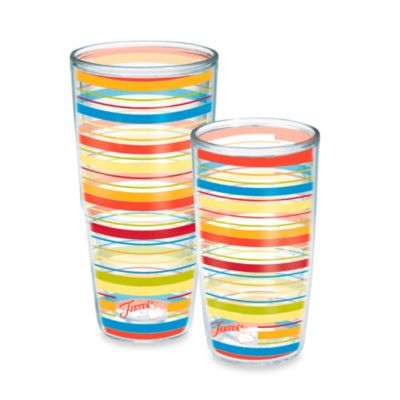 Tervis® Poppy Stripes Fiesta® 16-oz. Wrap Tumbler