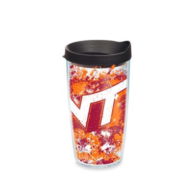 Tervis® Virginia Tech 16-Ounce Splatter Wrap Tumbler with Lid