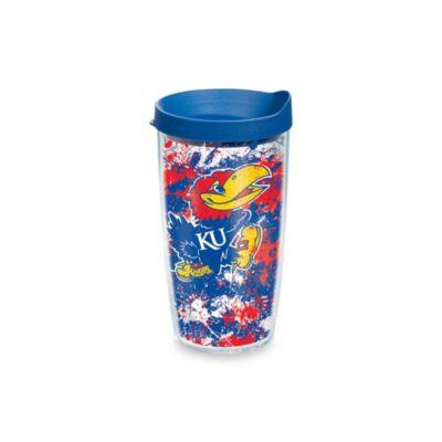 Tervis® University of Kansas 16-Ounce Splatter Wrap Tumbler with Lid