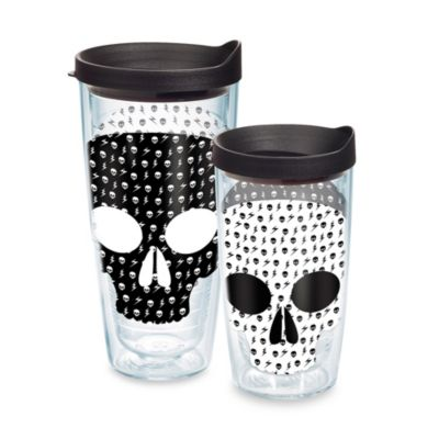 16-Ounce Black White Tumbler Lid