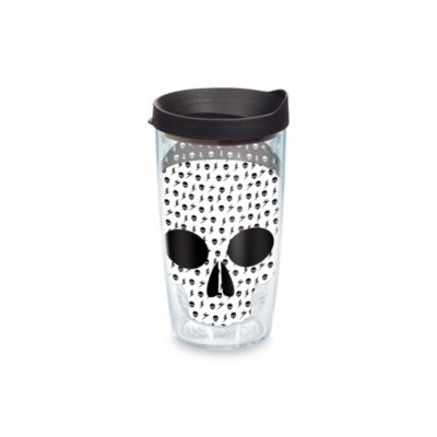 16-Ounce Black White Black Tumbler Lid