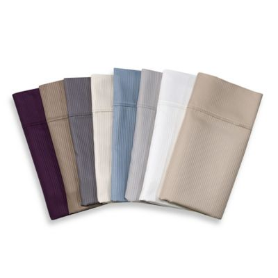 Eucalyptus Origins™ Tencel® Lyocell King Pillowcases in Mauve Stripe (Set of 2)