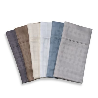 Eucalyptus Origins™ Tencel® Lyocell Windowpane Pillowcases (Set of 2)