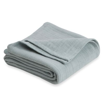 Vellux Cotton King Blanket in Grey Mist