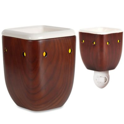 Aalborg Walnut Accent Small Wax Warmer