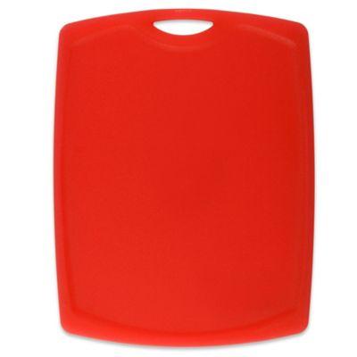 dexas® cut & serve™ 8-1/2-Inch x 11-Inch Plastic Cutting Board in Red