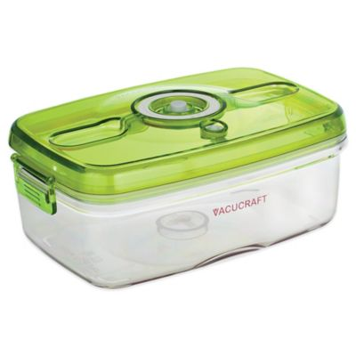 Vacucraft 1-Quart Vacuum Seal Square Food Container