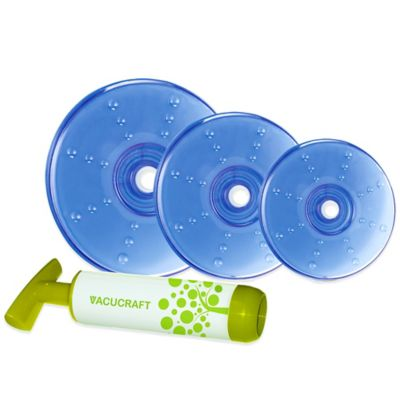 Vacucraft 4-Piece Vacuum Seal Food Container Lids Set