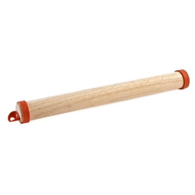 Pizzacraft™ Wooden Rolling Pin with Silicone Rings