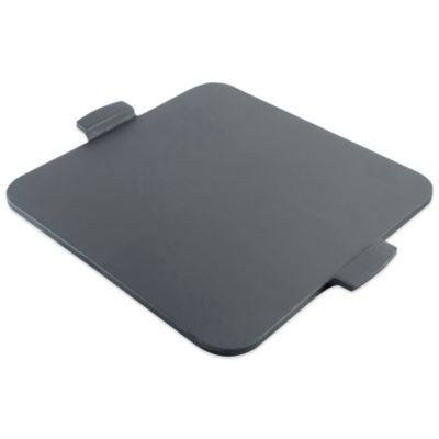 Pizzacraft 14.5-Inch Square Glazed Pizza Stone with Handles
