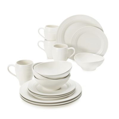 Swirl White 16-Piece Dinnerware Set
