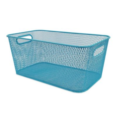 Durable Mesh Media Bin in Peacock Blue