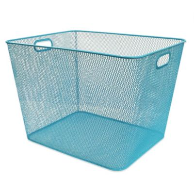 Durable Mesh Large Bin in Peacock Blue