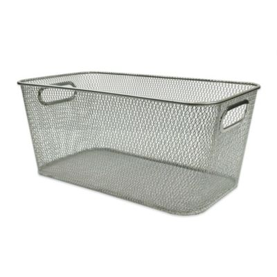 Durable Mesh Media Bin in Silver