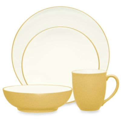 Noritake® Colorwave 4-Piece Place Setting in Mustard