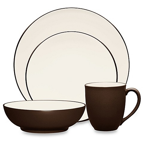 Noritake® Colorwave 4-Piece Coupe Place Setting in Chocolate