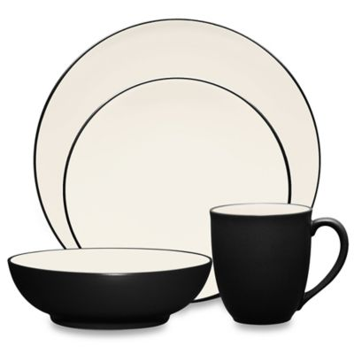 Noritake® Colorwave Coupe Dinnerware 4-Piece Place Setting in Graphite