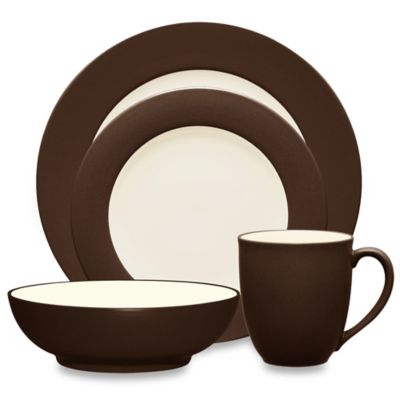 Noritake® Colorwave 4-Piece Rim Place Setting in Chocolate
