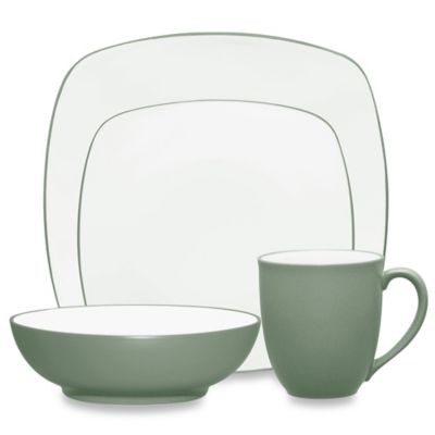 Noritake® Colorwave 4-Piece Square Place Setting in Green