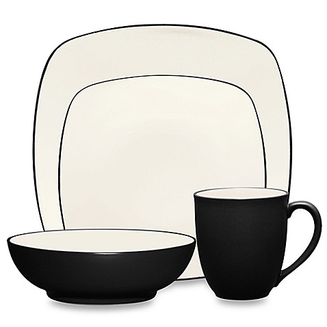 Noritake® Colorwave 4-Piece Square Place Setting in Graphite