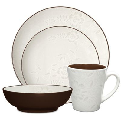 Noritake® Colorwave Bloom 4-Piece Place Setting in Chocolate