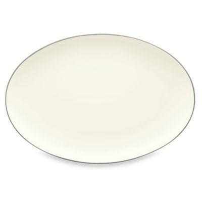 Green Oval Platter