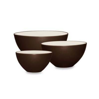 Noritake® Colorwave 3-Piece Mixing Bowl Set in Chocolate
