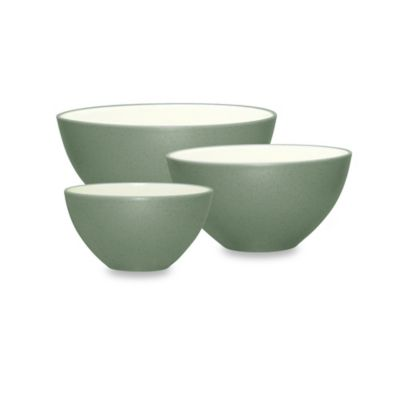 Noritake® Colorwave 3-Piece Mixing Bowl Set in Green