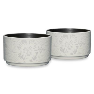 Noritake® Colorwave Bloom Stacking Bowls in Graphite (Set of 2)