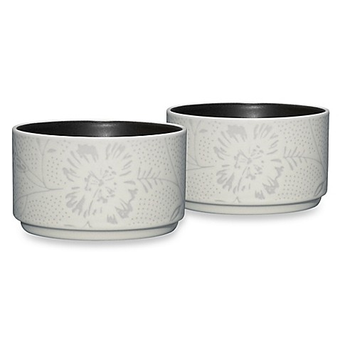 Noritake® Colorwave Bloom Stacking Bowls in Graphite (Set of 2)