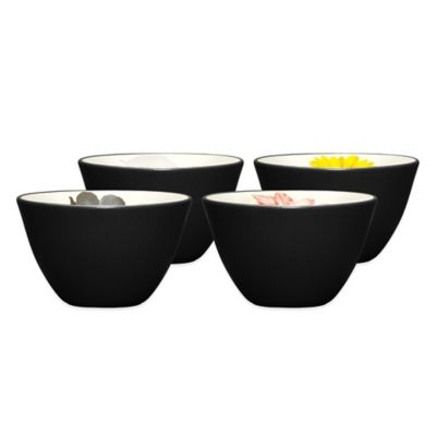 Noritake® Colorwave Floral Mini Bowls in Graphite (Set of 4)