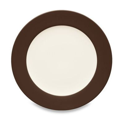 Colorwave Salad Plate in Chocolate