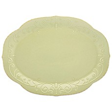 Lenox® French Perle Oval Platter in Pistachio