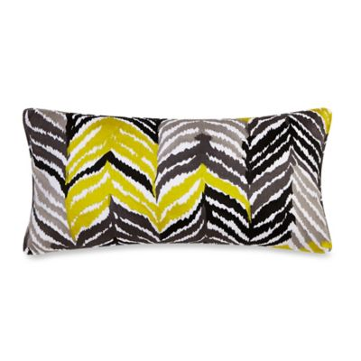 Trina Turk® Louis Nui Oblong Throw Pillow in Black/Acid Yellow