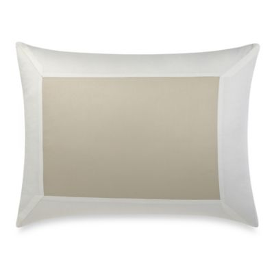Hotel Pillow Sham in Taupe/White