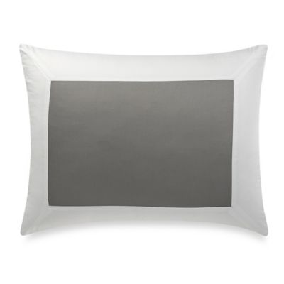 Wamsutta® Hotel MICRO COTTON® Standard Pillow Sham in Charcoal/White