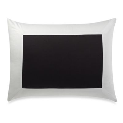 Hotel Pillow Sham in Black/White