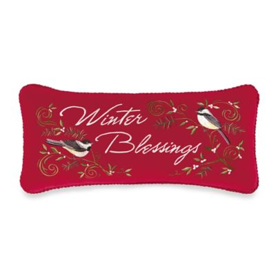 Berry Wreath Velvet Winter Blessing Pillow