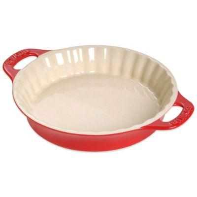 J.A. Henckels International Staub 9-3/8-Inch Pie Dish in Cherry