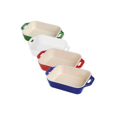 Staub .5-Quart Rectangular Baking Dish in White