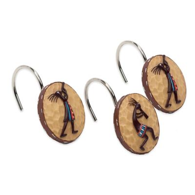 Avanti Kokopelli Shower Curtain Hooks (Set of 12)