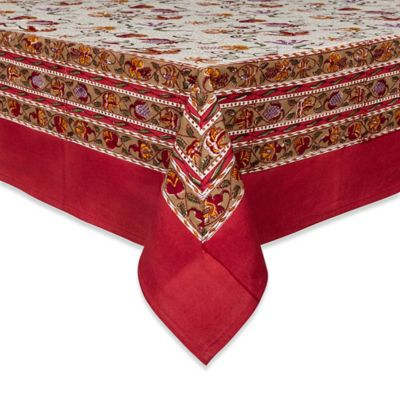 Couleur Nature® Fleurs des Indes 71-Inch x 71-Inch Tablecloth