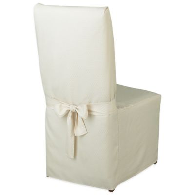 McKenna Microfiber Dining Room Chair Cover in Cream
