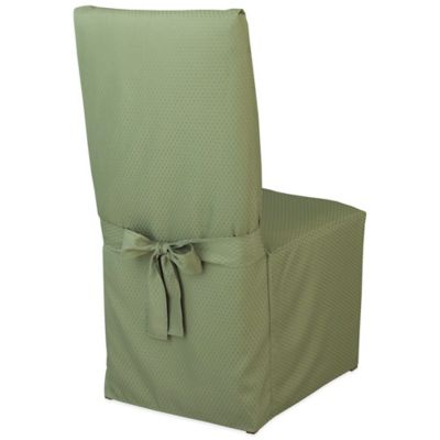 McKenna Microfiber Dining Room Chair Cover in Green