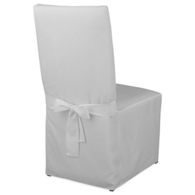 McKenna Microfiber Dining Room Chair Cover in White